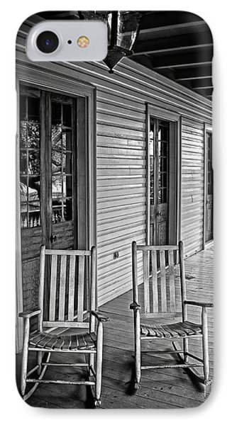 Old Porch Rockers Phone Case by Perry Webster
