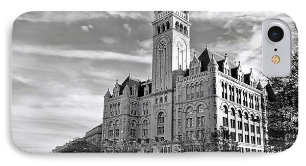 Old Post Office And Pennsylvania Avenue IPhone Case by Olivier Le Queinec