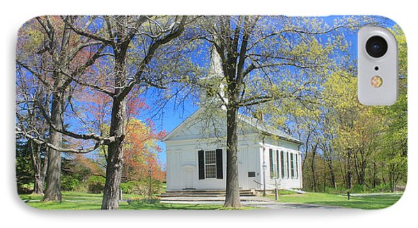 Old Quabbin Reservoir Church At Mount Holyoke IPhone Case by John Burk