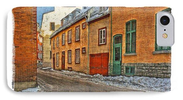 Old Quebec City IPhone Case by Roger Winkler