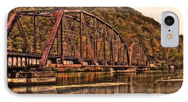 IPhone Case featuring the photograph Old Railroad Bridge With Sepia Tones by Jonny D