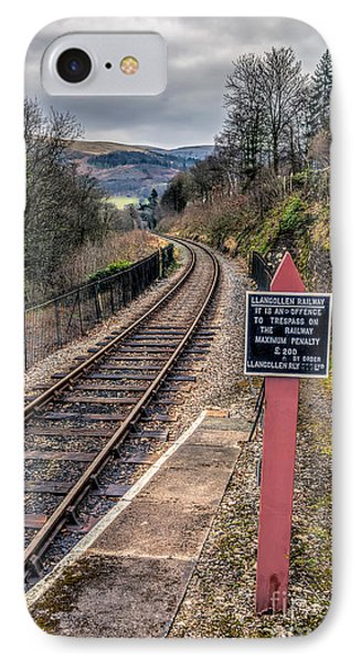 Old Railway Sign Phone Case by Adrian Evans