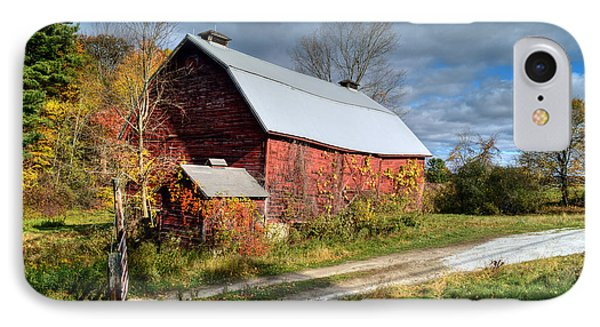 Old Red Barn - Berkshire County IPhone Case