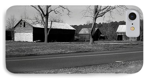 Old Red Barn In Black And White IPhone Case by Amazing Photographs AKA Christian Wilson