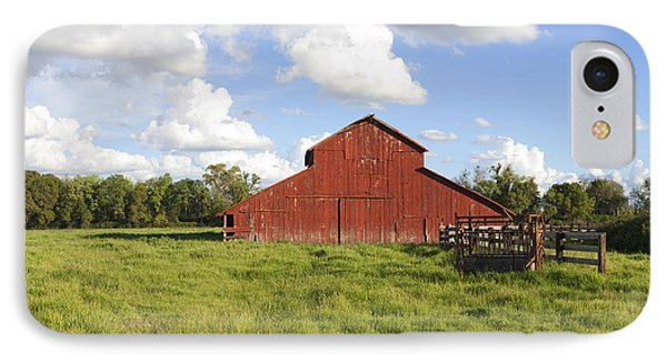IPhone Case featuring the photograph Old Red Barn by Mark Greenberg