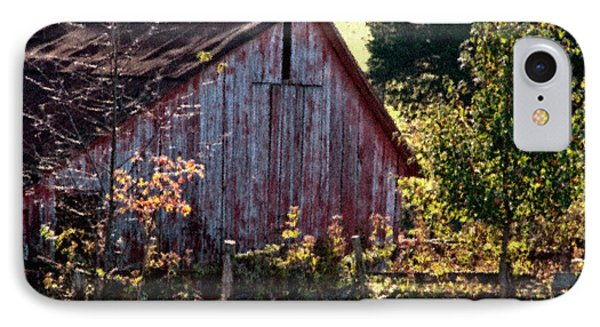 Old Red Barn Nine IPhone Case by Ken Frischkorn