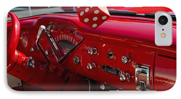 IPhone Case featuring the photograph Old Red Chevy Dash by Tikvah's Hope