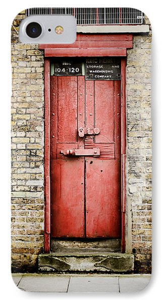 Old Red Door Phone Case by Heather Applegate