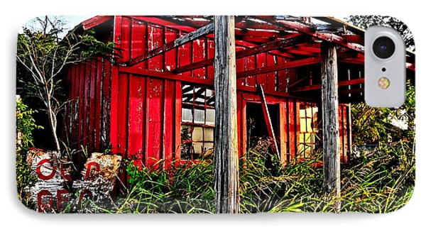Old Red Store IPhone Case by Pattie Calfy