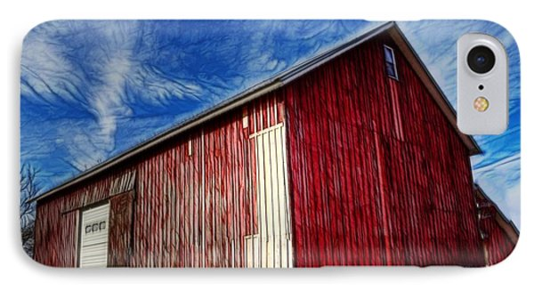 Old Red Wooden Barn IPhone Case by Jim Lepard