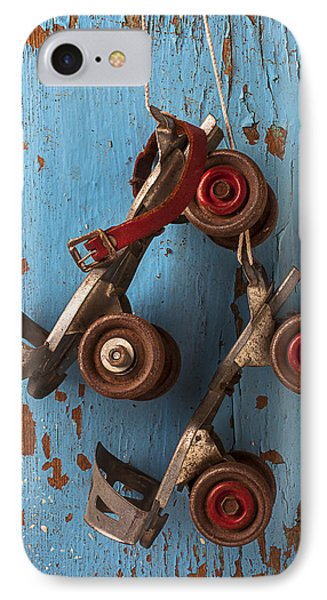 Old Roller Skates IPhone Case by Garry Gay