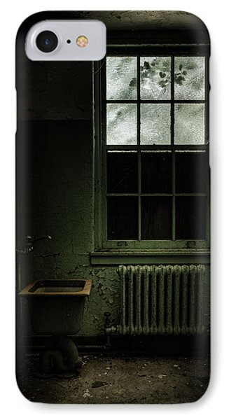 Old Room - Abandoned Asylum - The Presence Outside Phone Case by Gary Heller