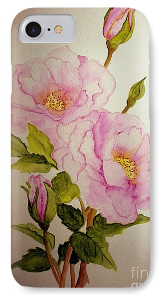 Old Roses From The Garden IPhone Case by Carol Grimes