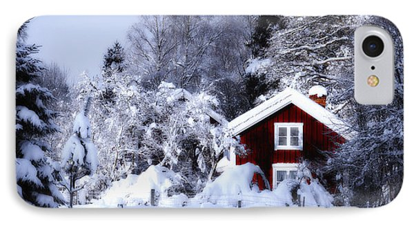 Old Rural Winter Landscape Scenery IPhone Case by Christian Lagereek