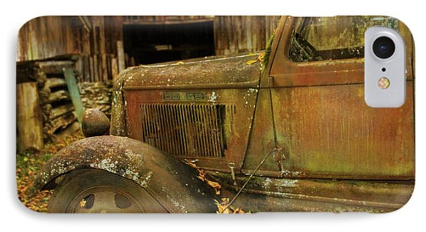 Old Rusted Truck In Autumn IPhone Case by Dan Sproul