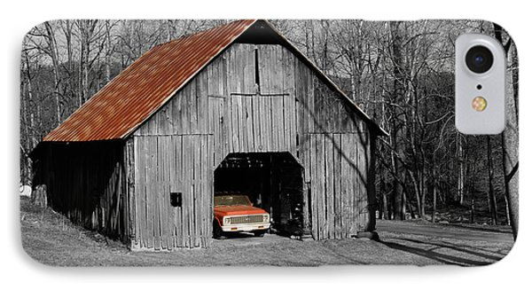 IPhone Case featuring the photograph Old Rusty Barn  by Donald Williams