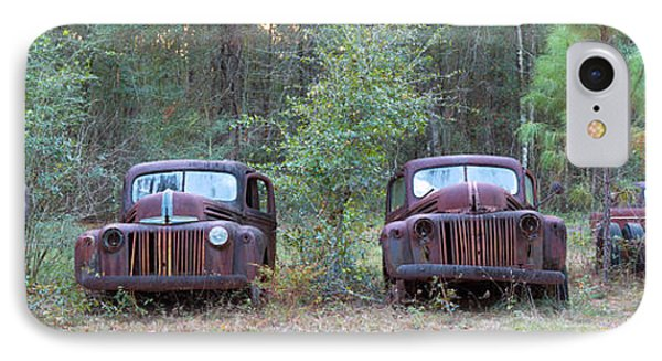 Old Rusty Cars And Trucks On Route 319 IPhone Case by Panoramic Images