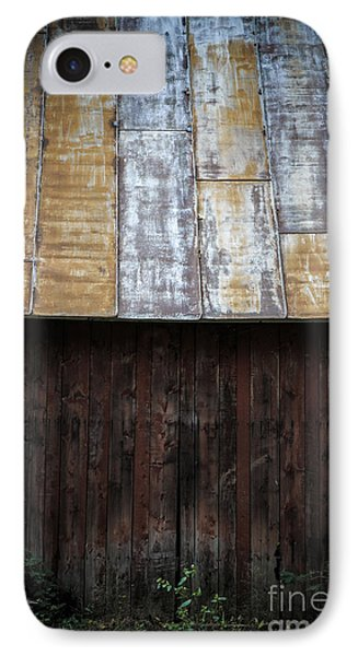 Old Rusty Tin Roof Barn IPhone Case by Edward Fielding