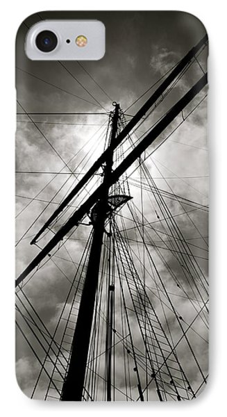 Old Sailing Ship IPhone Case by Alex King
