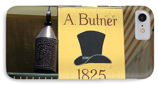 Winston-salem Nc - Old Salem Hat Shop IPhone Case by Frank Romeo
