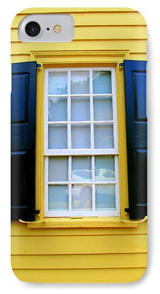 Old Salem Window Three IPhone Case by Randall Weidner