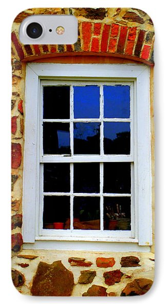 Old Salem Window Twelve IPhone Case by Randall Weidner