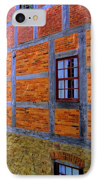 Old Salem Windows 29 IPhone Case by Randall Weidner