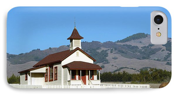 Old San Simeon Village Church Horses IPhone Case by Barbara Snyder