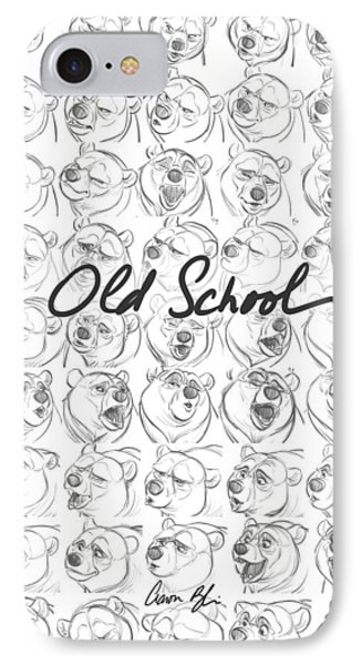 Old School IPhone Case by Aaron Blaise