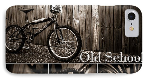 Old School Bmx - Pk Collage Bw Phone Case by Jamian Stayt