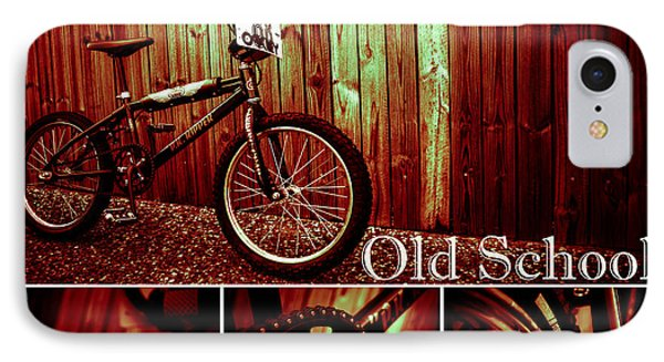 Old School Bmx - Pk Collage Colour Phone Case by Jamian Stayt