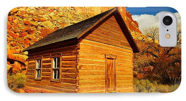 Old Schoolhouse Near Capital Reef Utah Phone Case by Jeff Swan