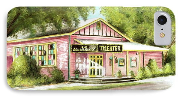 IPhone Case featuring the painting Old Schoolhouse Theater On Sanibel Island by Melinda Saminski