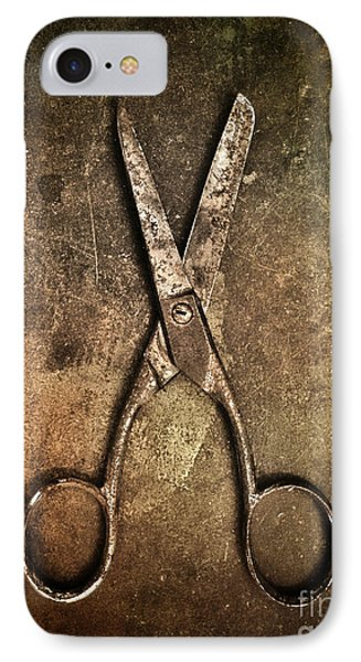 Old Scissors IPhone Case by Carlos Caetano