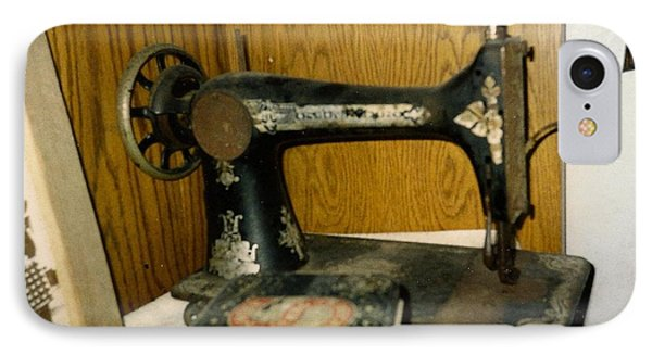 Old Sewing Machine IPhone Case by Amazing Photographs AKA Christian Wilson