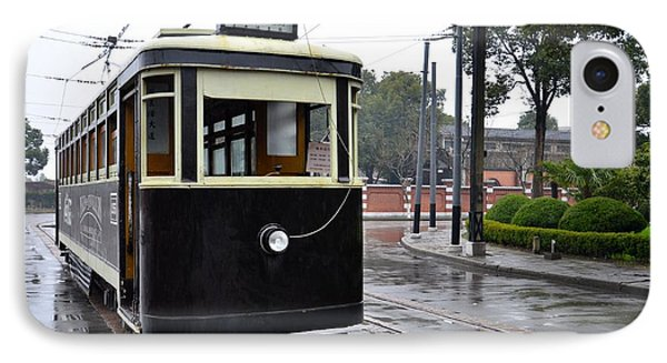 Old Shanghai Trolley Tram Car Rests In Tracks Phone Case by Imran Ahmed