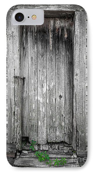 IPhone Case featuring the photograph Old Shed Door by Marion Johnson