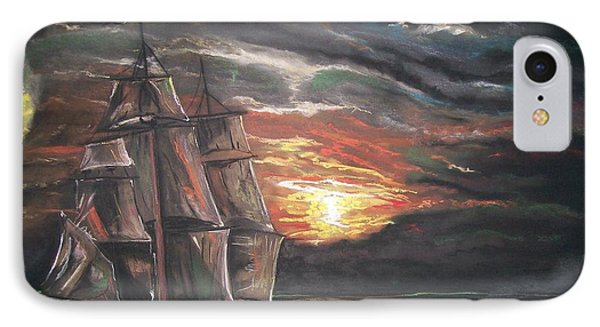 Old Ship Of The Sea IPhone Case by Peter Suhocke