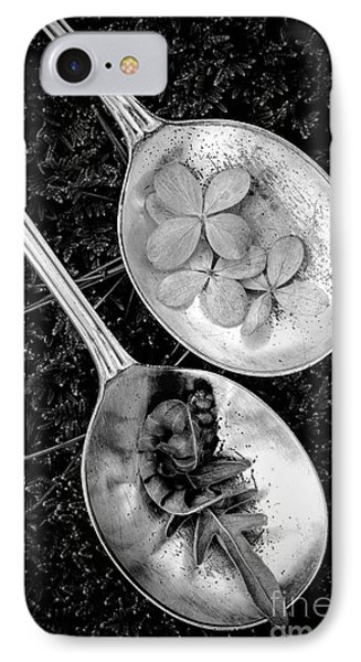 Old Silver Spoons IPhone Case by Edward Fielding