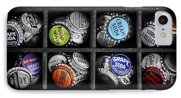 Old Soda Bottle Tops IPhone Case by Tim Gainey