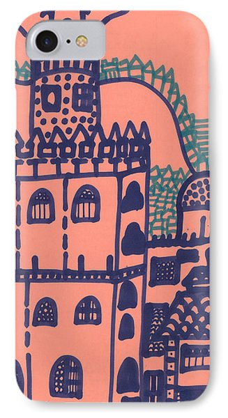 IPhone Case featuring the drawing Old Spanish Town by Don Koester