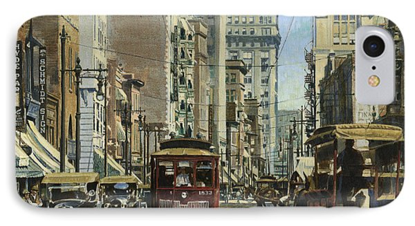 Old St. Louis 11th And Olive IPhone Case by Don  Langeneckert