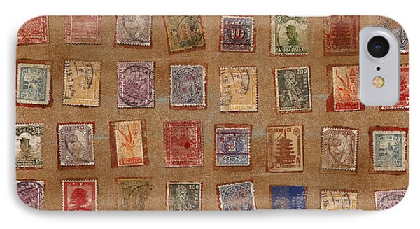 Old Stamp Collection IPhone Case by Carol Leigh