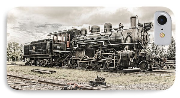 IPhone Case featuring the photograph Old Steam Locomotive No. 97 - Made In America by Gary Heller