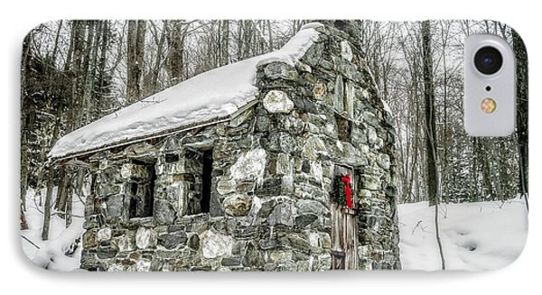 Old Stone Chapel Stowe Vermont IPhone Case