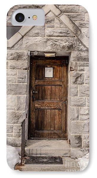 Old Stone Church Door Phone Case by Edward Fielding