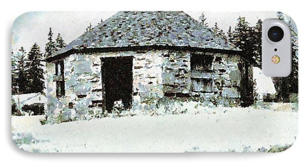 Old Stone Schoolhouse In Winter - South Canaan IPhone Case by Janine Riley