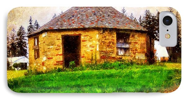 Old Stone Schoolhouse - South Canaan IPhone Case by Janine Riley