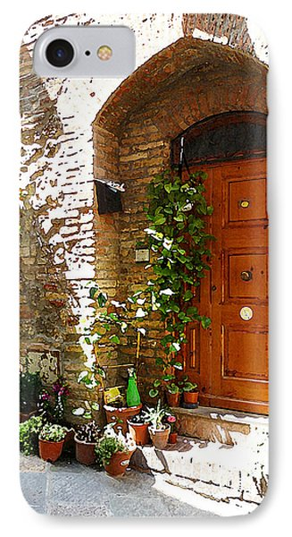Old Streets Of Tuscany San Gimignano IPhone Case