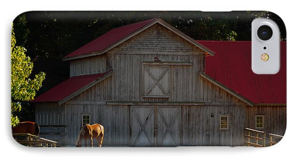 IPhone Case featuring the photograph Old-style Horse Barn by Jordan Blackstone